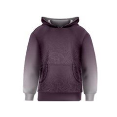 Organic Olive Leaves Pattern Hand Drawn Purple Red Wine Kids  Pullover Hoodie by genx