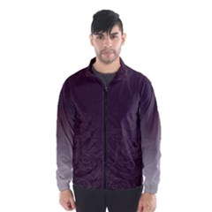 Organic Olive Leaves Pattern Hand Drawn Purple Red Wine Men s Windbreaker by genx