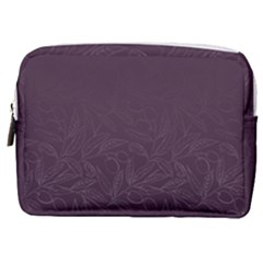 Organic Olive Leaves Pattern Hand Drawn Purple Red Wine Make Up Pouch (medium) by genx