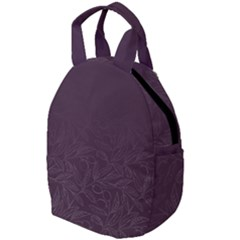Organic Olive Leaves Pattern Hand Drawn Purple Red Wine Travel Backpacks by genx