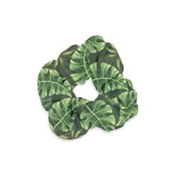 Green Tropical Leaves Velvet Scrunchie by goljakoff