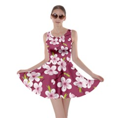 Cherry Flowers Pattern Skater Dress