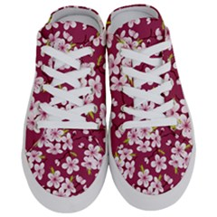 Cherry Flowers Pattern Half Slippers by goljakoff