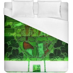 Dublin Scioto Irish Window Duvet Cover (king Size) by Riverwoman