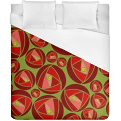 Abstract Rose Garden Red Duvet Cover (california King Size) by Jojostore