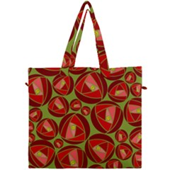 Abstract Rose Garden Red Canvas Travel Bag