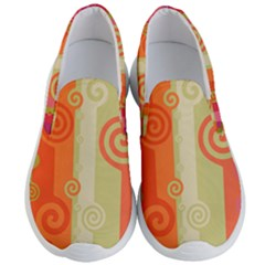 Ring Kringel Background Abstract Red Men s Lightweight Slip Ons