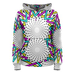 Sun Abstract Mandala Plaid Women s Pullover Hoodie