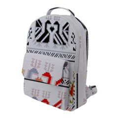 Bulgarian Folk Art Folk Art Flap Pocket Backpack (large)