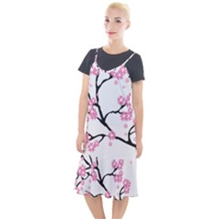 Blossoms Branch Cherry Floral Camis Fishtail Dress