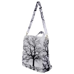 Tree Silhouette Winter Plant Crossbody Backpack