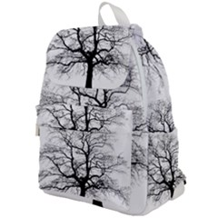 Tree Silhouette Winter Plant Top Flap Backpack