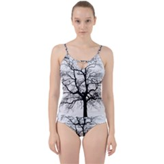 Tree Silhouette Winter Plant Cut Out Top Tankini Set