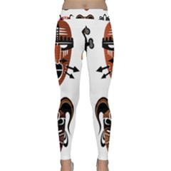 Tribal Masks African Culture Set Classic Yoga Leggings by Pakrebo