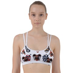 Tribal Masks African Culture Set Line Them Up Sports Bra