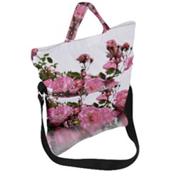 Roses Flowers Nature Flower Fold Over Handle Tote Bag
