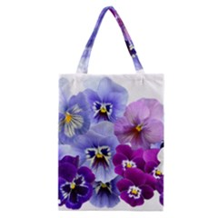 Pansy Isolated Violet Nature Classic Tote Bag