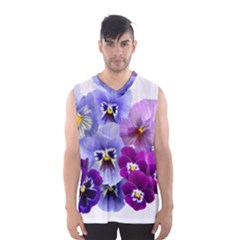 Pansy Isolated Violet Nature Men s Basketball Tank Top