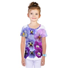 Pansy Isolated Violet Nature Kids  One Piece Tee