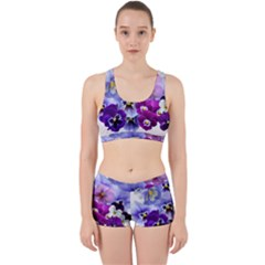 Pansy Isolated Violet Nature Work It Out Gym Set