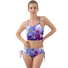 Pansy Isolated Violet Nature Mini Tank Bikini Set