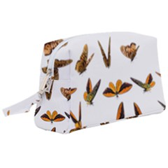 Butterfly Butterflies Insect Swarm Wristlet Pouch Bag (large)