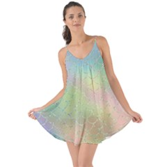 Pastel Mermaid Sparkles Love The Sun Cover Up