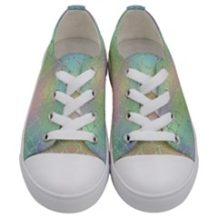 Pastel Mermaid Sparkles Kids  Low Top Canvas Sneakers