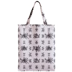 Black And White Ethnic Design Print Zipper Classic Tote Bag by dflcprintsclothing