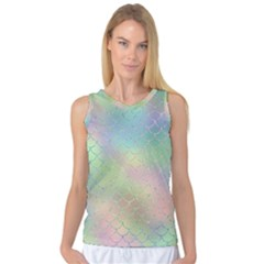Pastel Mermaid Sparkles Women s Basketball Tank Top