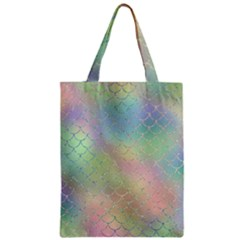 Pastel Mermaid Sparkles Zipper Classic Tote Bag by retrotoomoderndesigns