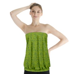 Oak Tree Nature Ongoing Pattern Strapless Top
