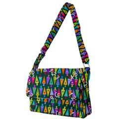 Pattern Back To School Schultuete Full Print Messenger Bag