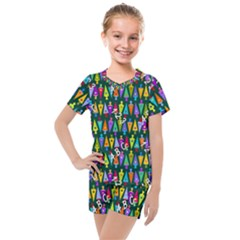 Pattern Back To School Schultuete Kids  Mesh Tee And Shorts Set