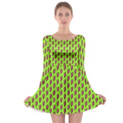 80s 90s Pattern 12 Long Sleeve Skater Dress by tarastyle
