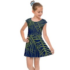 Fancy Tropical Pattern Kids  Cap Sleeve Dress by tarastyle
