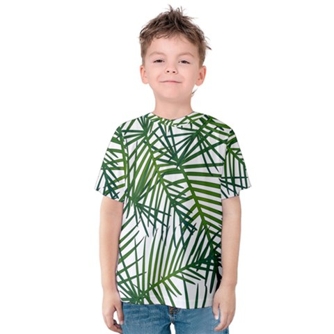 Fancy Tropical Pattern Kids  Cotton Tee by tarastyle