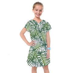 Fancy Tropical Pattern Kids  Drop Waist Dress by tarastyle