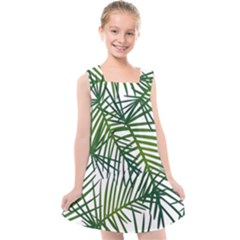 Fancy Tropical Pattern Kids  Cross Back Dress by tarastyle