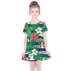 Fancy Tropical Pattern Kids  Simple Cotton Dress by tarastyle