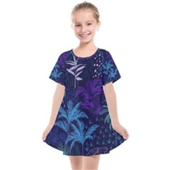 Fancy Tropical Pattern Kids  Smock Dress by tarastyle