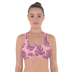 Fancy Tropical Pattern Cross Back Sports Bra by tarastyle
