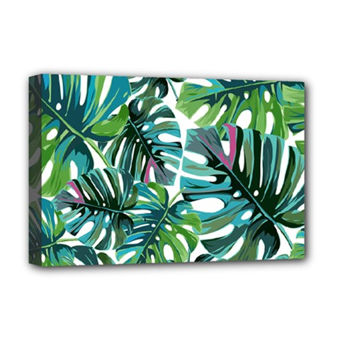 Fancy Tropical Pattern Deluxe Canvas 18  X 12  (stretched) by tarastyle