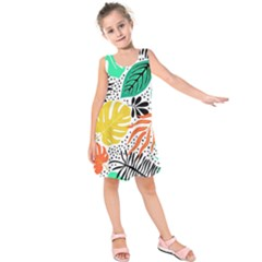 Fancy Tropical Pattern Kids  Sleeveless Dress by tarastyle