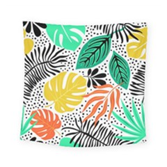 Fancy Tropical Pattern Square Tapestry (small) by tarastyle