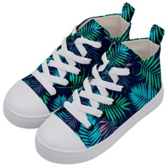 Fancy Tropical Pattern Kids  Mid Top Canvas Sneakers by tarastyle