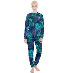 Fancy Tropical Pattern Women s Lounge Set