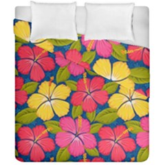 Fancy Tropical Pattern Duvet Cover Double Side (california King Size) by tarastyle