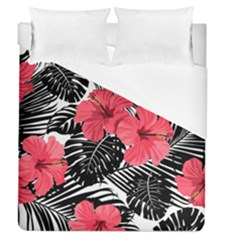 Fancy Tropical Pattern Duvet Cover (queen Size) by tarastyle