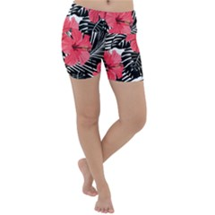 Fancy Tropical Pattern Lightweight Velour Yoga Shorts by tarastyle